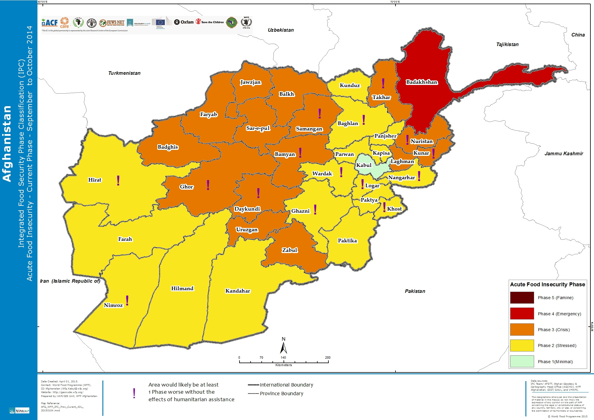 Afghanistan integrated food security phase classification ipc published on 01 apr 2015 view original gumiabroncs Gallery