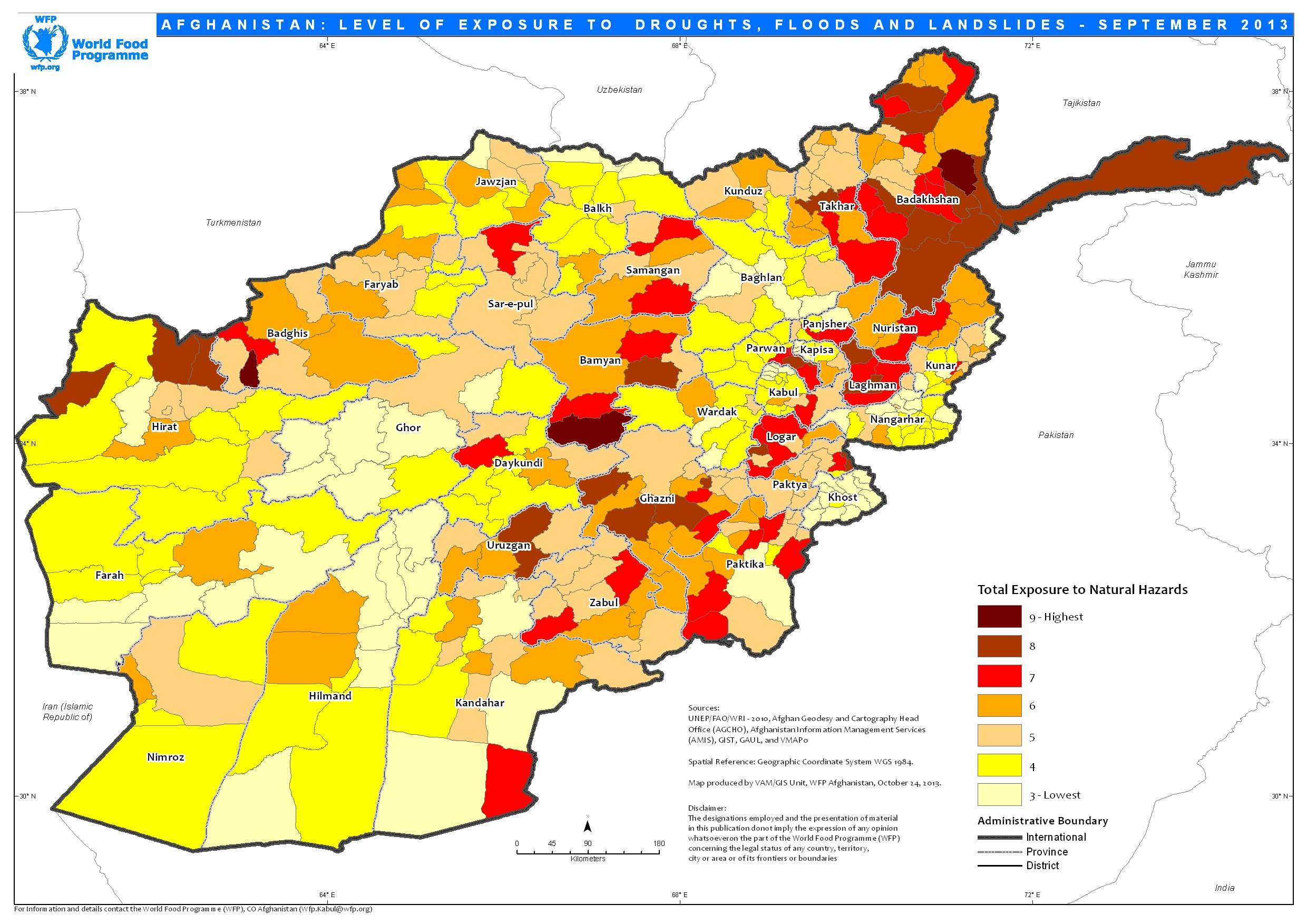 Afghanistan exposure to natural hazards floods droughts and afghanistan exposure to natural hazards floods droughts and landslides september 2013 gumiabroncs
