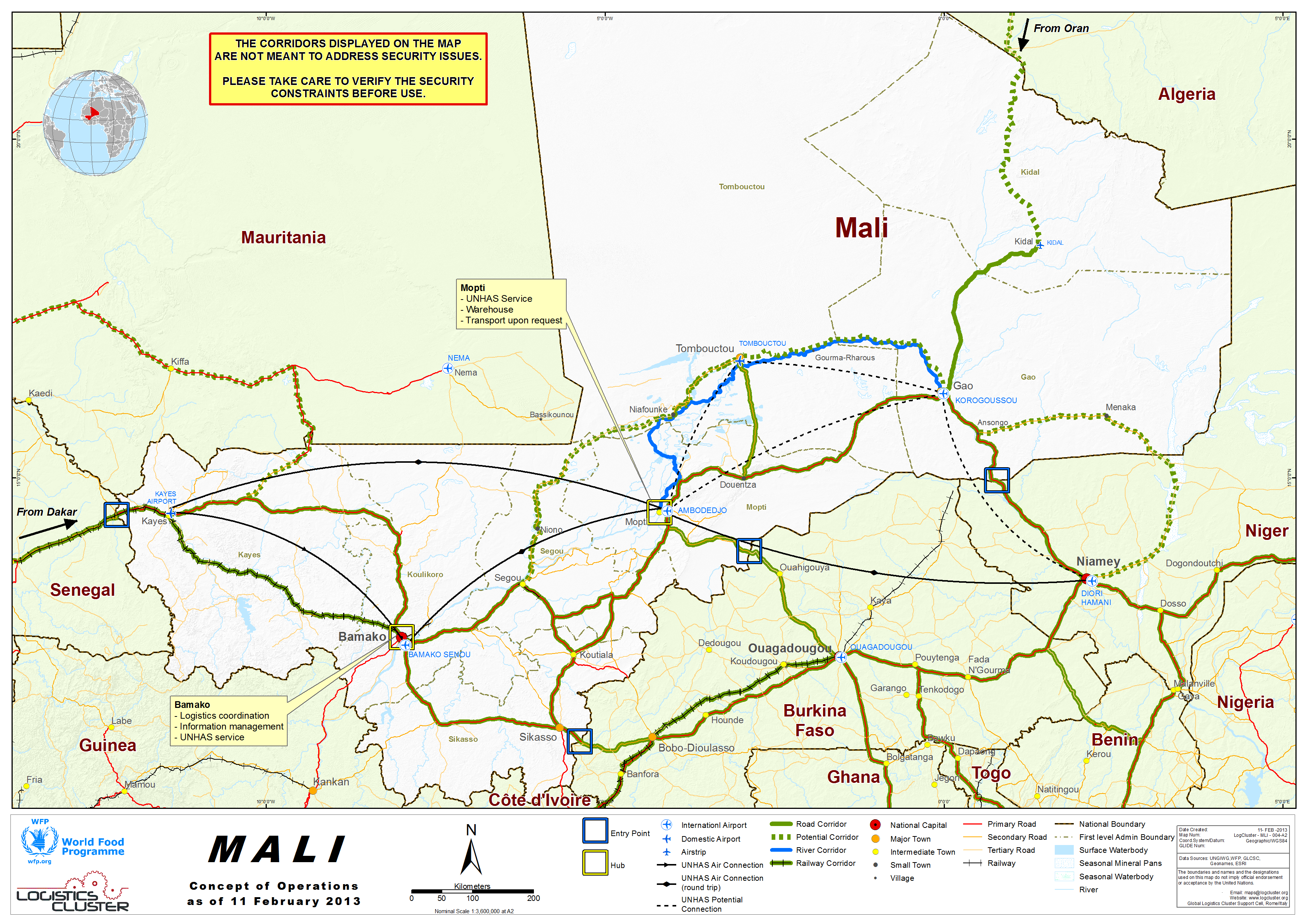 Mali Concept Of Operations Map February WFP GeoNode - Map of mali